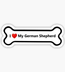 I Love My German Shepherd Sticker