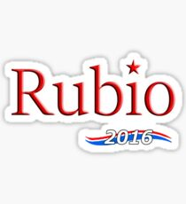 Pegatina Marco Rubio para el presidente 2016