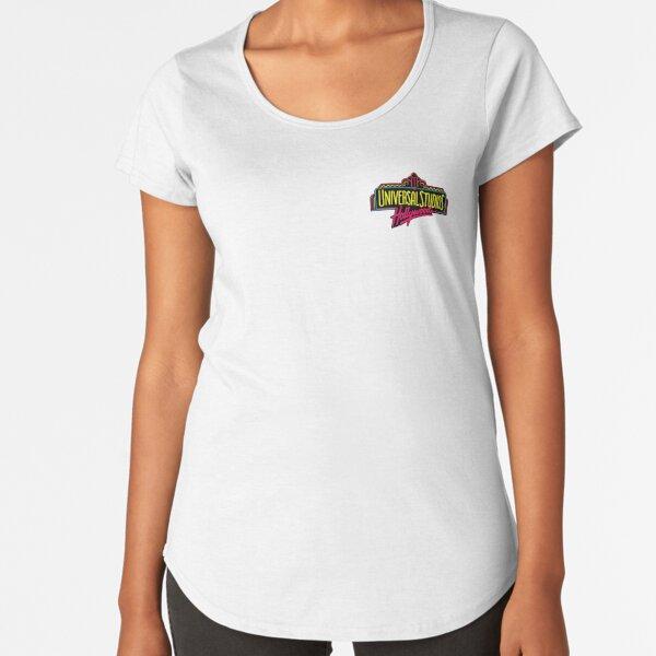 Universal Studios Hollywood Vintage Logo  Premium Scoop T-Shirt