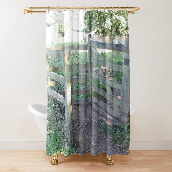 Merch #91 -- Kissing Gate (Hadrian's Wall) Shower Curtain