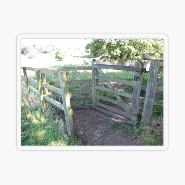 Merch #91 -- Kissing Gate (Hadrian's Wall) Transparent Sticker