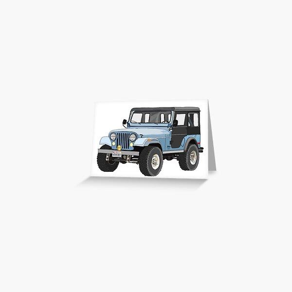 Sticker Jeep bleu de Stiles Carte de vœux