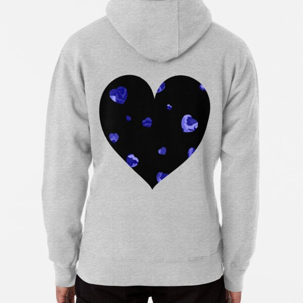 Chaotic Hearts, Dapple Series - Dark Blue Pullover Hoodie