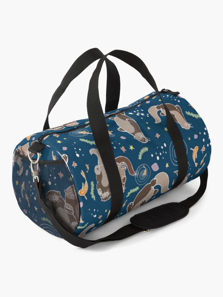 Alternate view of Sea Otters at Night Duffle Bag