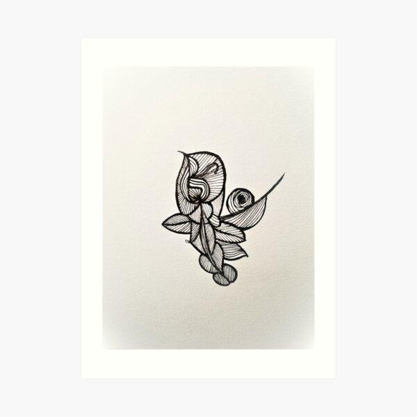Leaf in the Wind Art Print