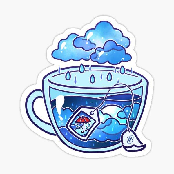 Rainy Day Tea Sticker