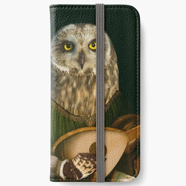 Owl Playing the Lute - Composite Painting iPhone Wallet