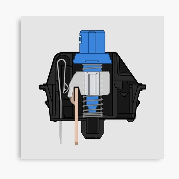 Cherry MX Blue Switch Mechanical Keyboard Canvas Print