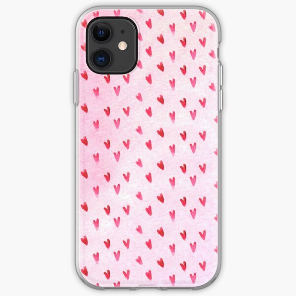 Hearts Pattern iPhone Soft Case