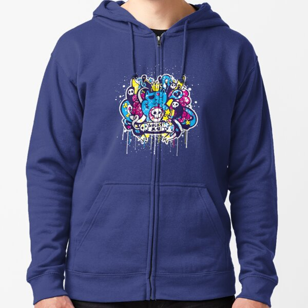 Un-Lucky Kitty Zipped Hoodie