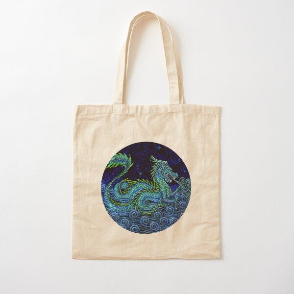 Chinese Azure Dragon Cotton Tote Bag
