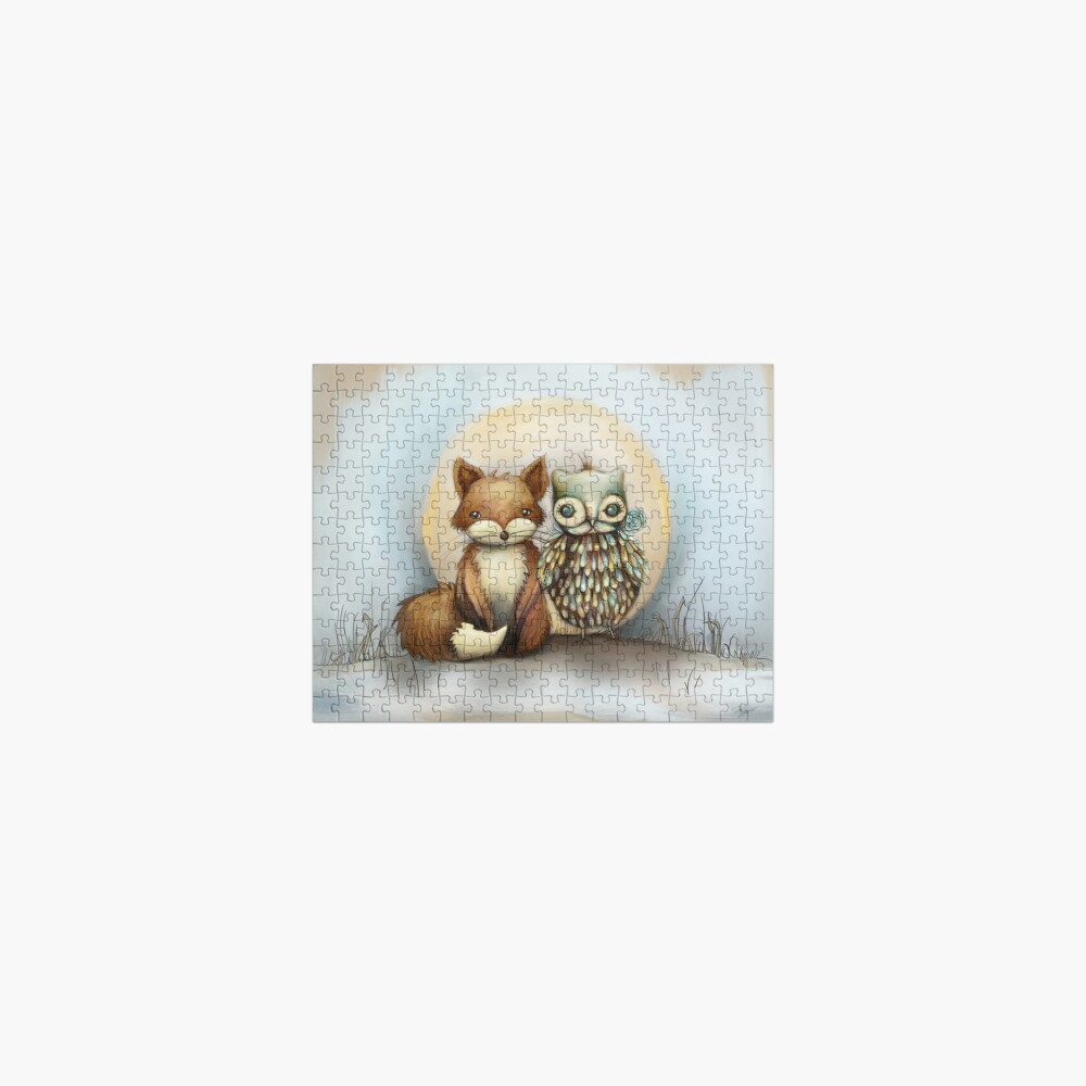 fox and owl Jigsaw Puzzle