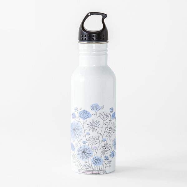 Flowers in Vase Water Bottle