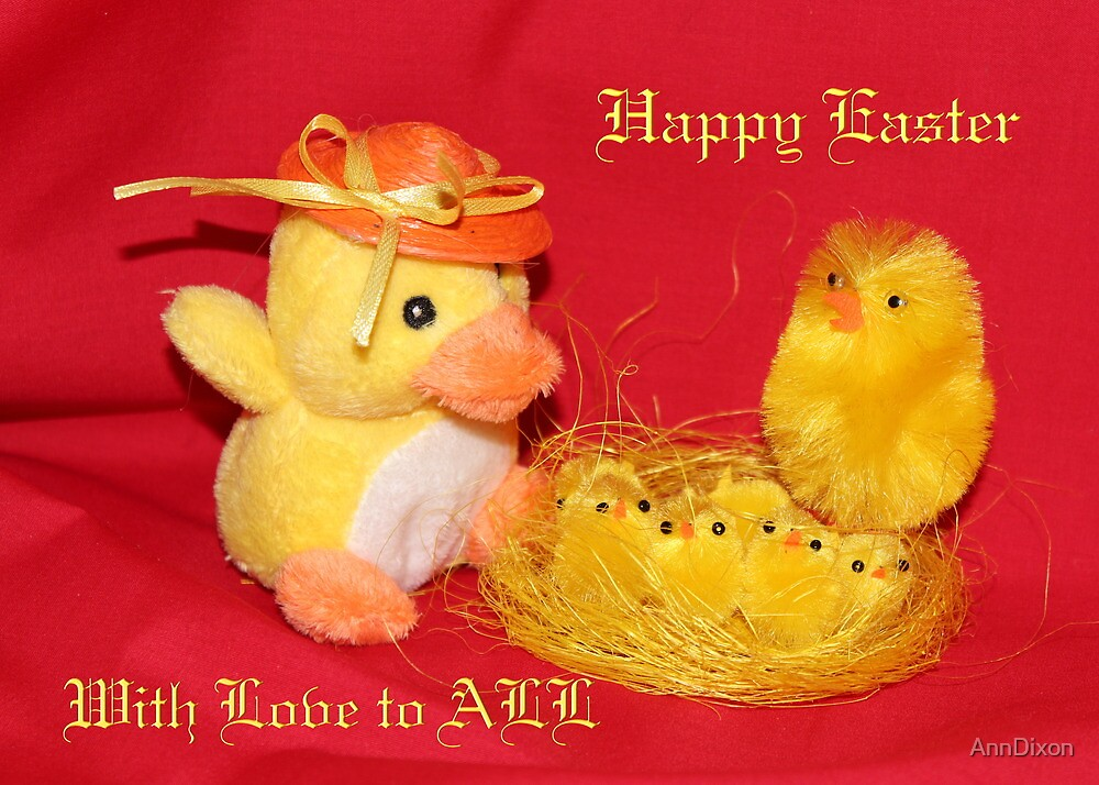 Happy Easter Dedication by AnnDixon