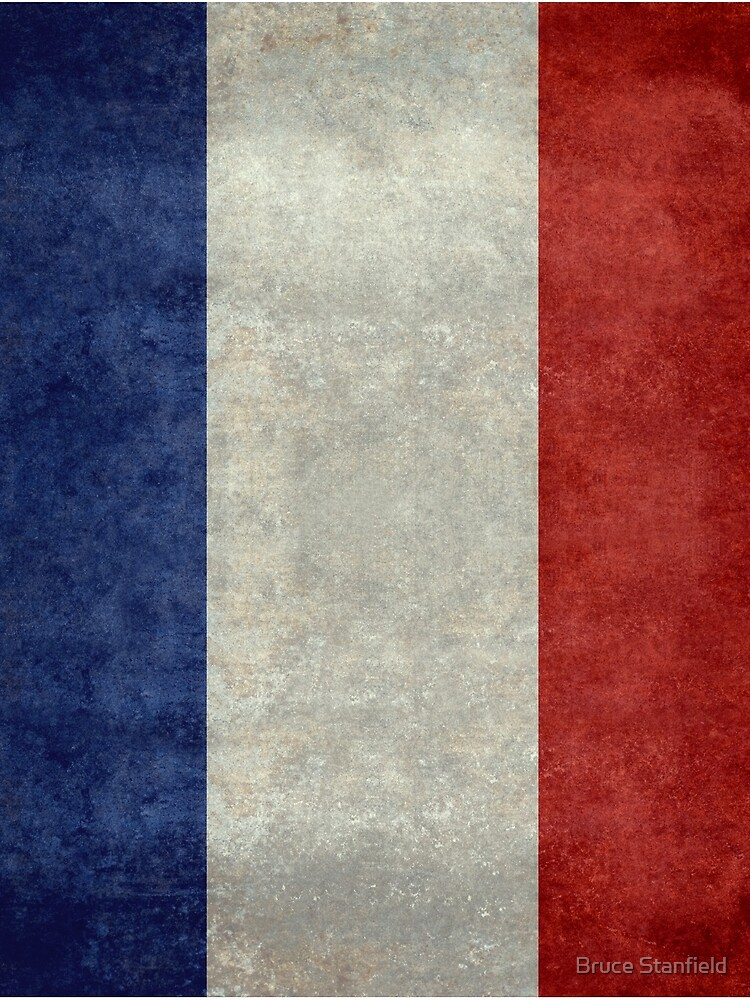 Flag of France, vintage retro style by Bruiserstang