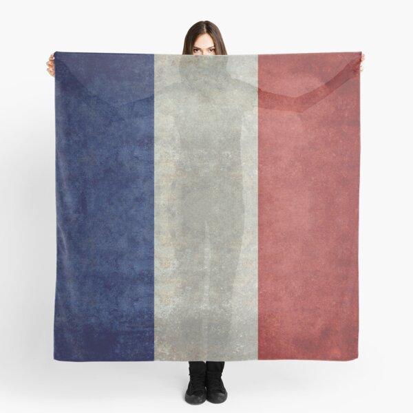 Flag of France, vintage retro style Scarf