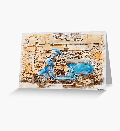 The Vespa Greeting Card