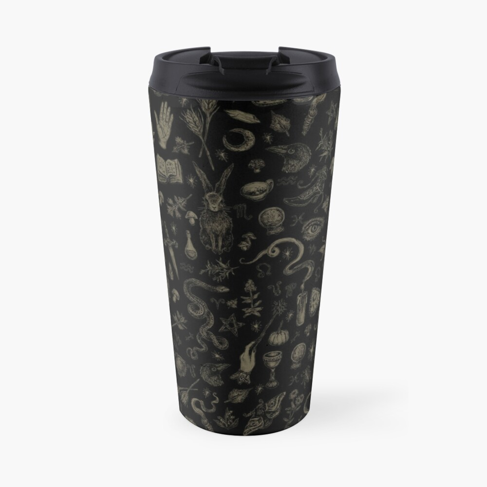 Just Witch Things (black and beige) Travel Mug