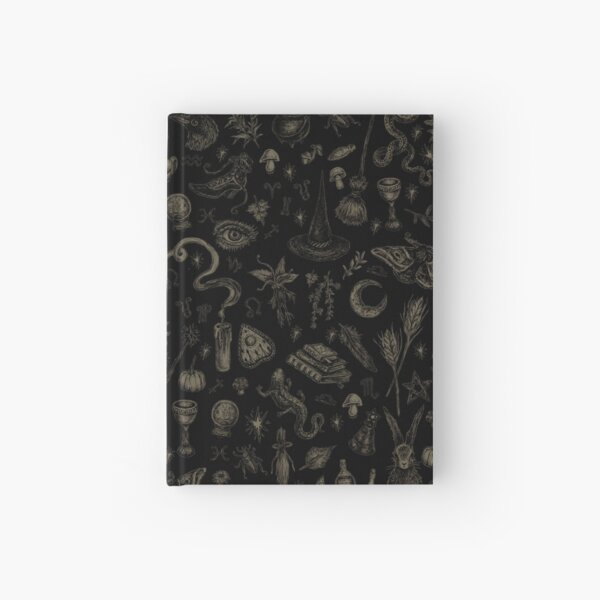 Just Witch Things (black and beige) Hardcover Journal
