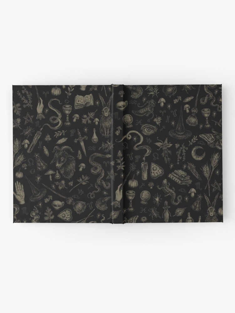Alternate view of Just Witch Things (black and beige) Hardcover Journal