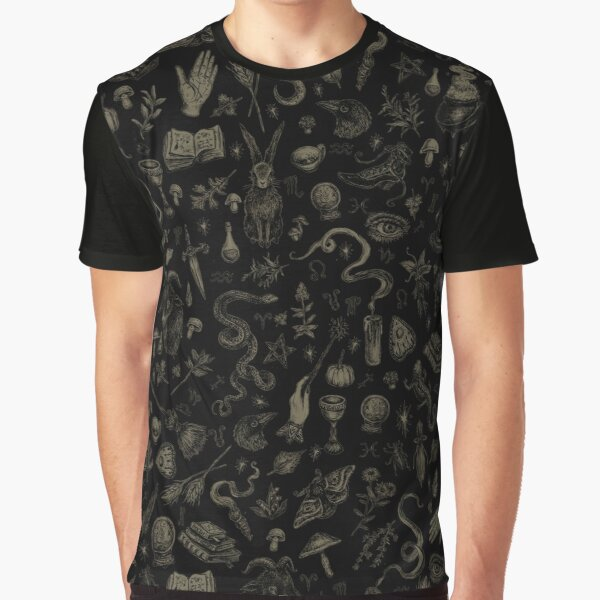 Just Witch Things (black and beige) Graphic T-Shirt