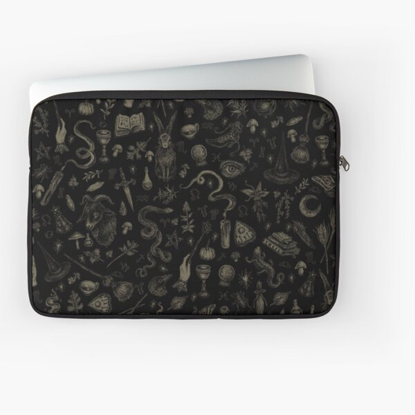 Just Witch Things (black and beige) Laptop Sleeve