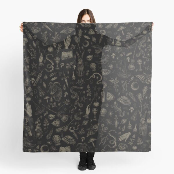 Just Witch Things (black and beige) Scarf