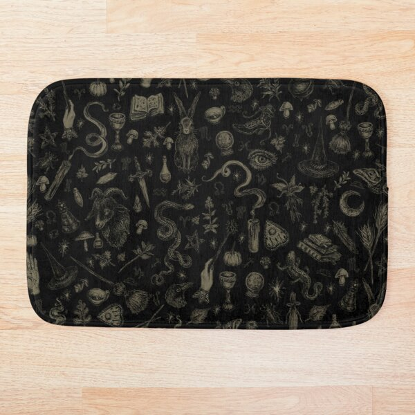 Just Witch Things (black and beige) Bath Mat