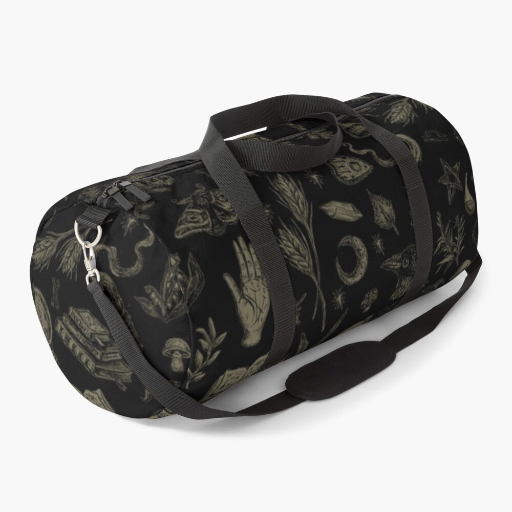 Just Witch Things (black and beige) Duffle Bag