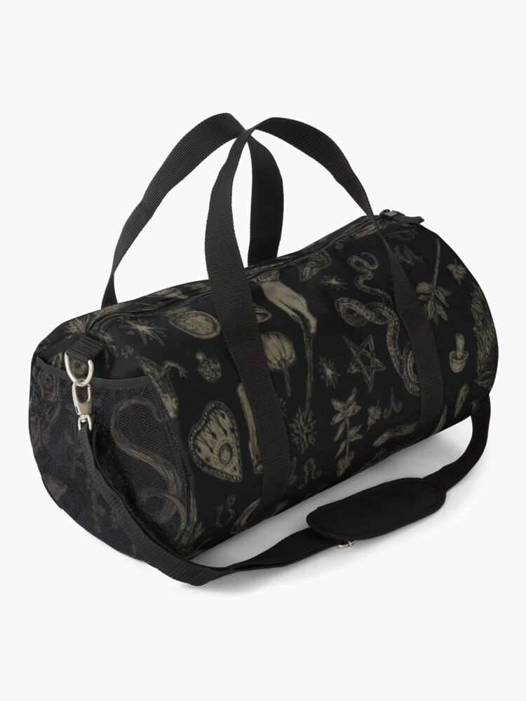Alternate view of Just Witch Things (black and beige) Duffle Bag