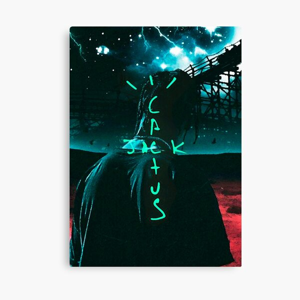 Jack Cactus Neon Impression sur toile