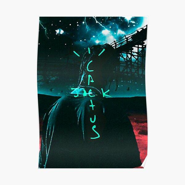 Jack Cactus Neon Poster