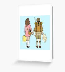 Moonrise Kingdom - Suzy & Sam Greeting Card