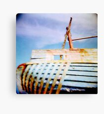 boat moored Canvas Print