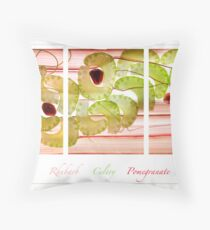 Rhubarb, Celery and Pomegranate Throw Pillow