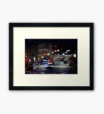 crosswalk at night Framed Print