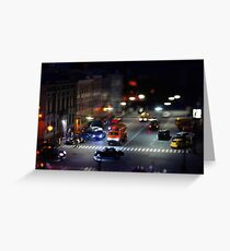 crosswalk at night Greeting Card