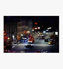 crosswalk at night Photographic Print