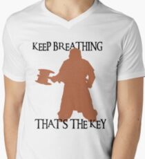 Gimli: Keep breathing, that's the key Men's V-Neck T-Shirt
