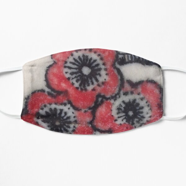 Red Blossoms Flat Mask