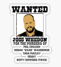 Joss Whedon: wanted Sticker