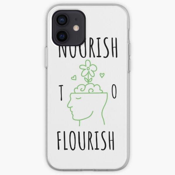 Nourish to Flourish (Black/Green) iPhone Soft Case