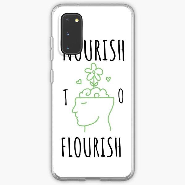 Nourish to Flourish (Black/Green) Samsung Galaxy Soft Case