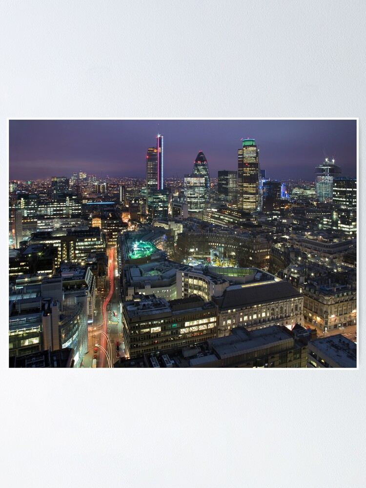 CITY OF LONDON HORIZON CANVAS PRINT PICTURE WALL ART FREE FAST DELIVERY