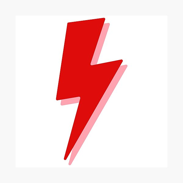 Red Lightning Bolt Photographic Print