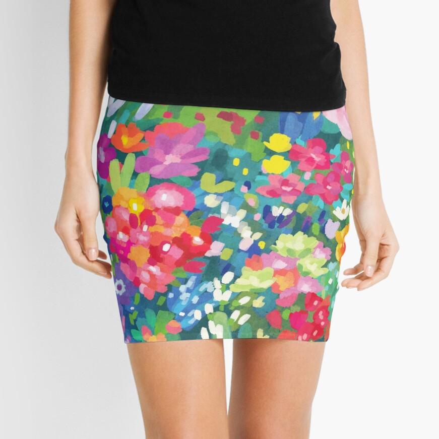 Florals...for Spring Mini Skirt