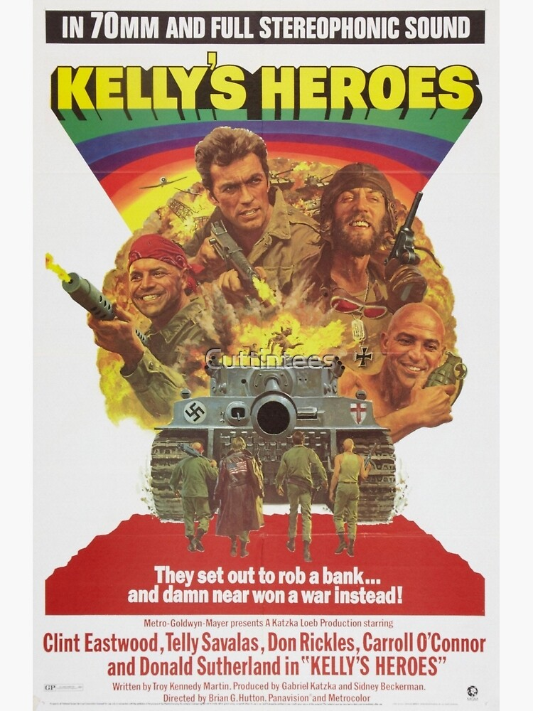 Kelly's Heroes directed by Brian G. Hutton, 1970 by Cuttintees