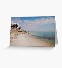 playa tortugas Greeting Card