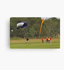 Parachuting Canvas Print