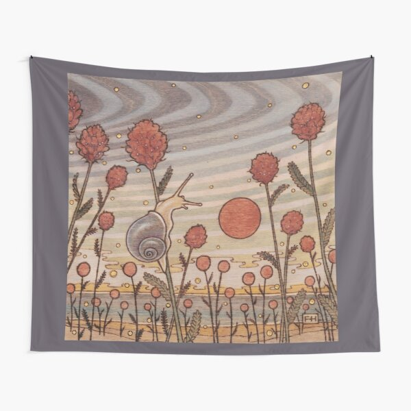 Snail in the Flowers Tapestry